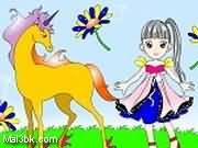 العاب تلوين الطفلة و الحصان 2015 - لعبة تلوين الطفلة و الحصان 2016