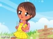 العاب تلبيس البنوتة الصغيرة في طريقها الى المدرسة 2015 - لعبة تلبيس البنوتة الصغيرة في طريقها الى المدرسة 2016