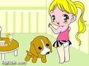 العاب تلوين بنوتة صغيرة مع كلبها 2015 - لعبة تلوين بنوتة صغيرة مع كلبها 2016