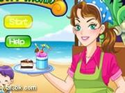 العاب مطعم الايسكريم على الشاطئ 2015 - لعبة مطعم الايسكريم على الشاطئ 2016