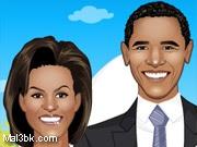 العاب تلبيس اوباما وزوجته 2015 - لعبة تلبيس اوباما وزوجته 2016