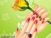 العاب مناكير يد ماسكة وردة 2015 - لعبة مناكير يد ماسكة وردة 2016